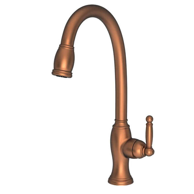 Newport Brass 2510-5103/08A Antique Copper Nadya Single Handle Kitchen ...