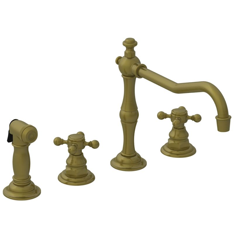 Newport Brass 943/06 Antique Brass Chesterfield Double Handle ...