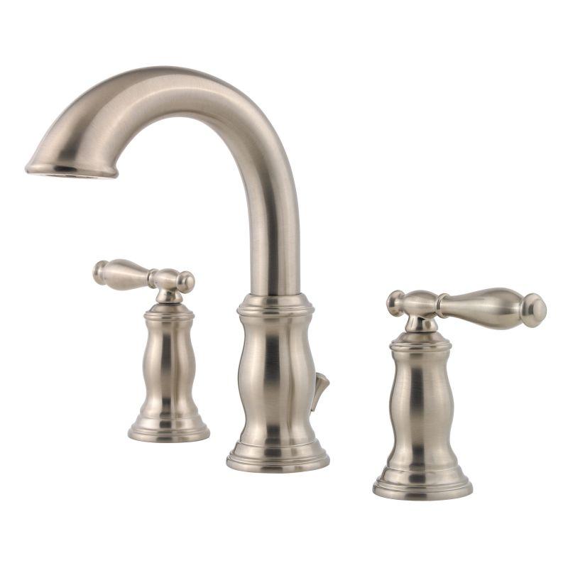 ... 049-TMKK Brushed Nickel Hanover Widespread Bathroom Sink Faucet