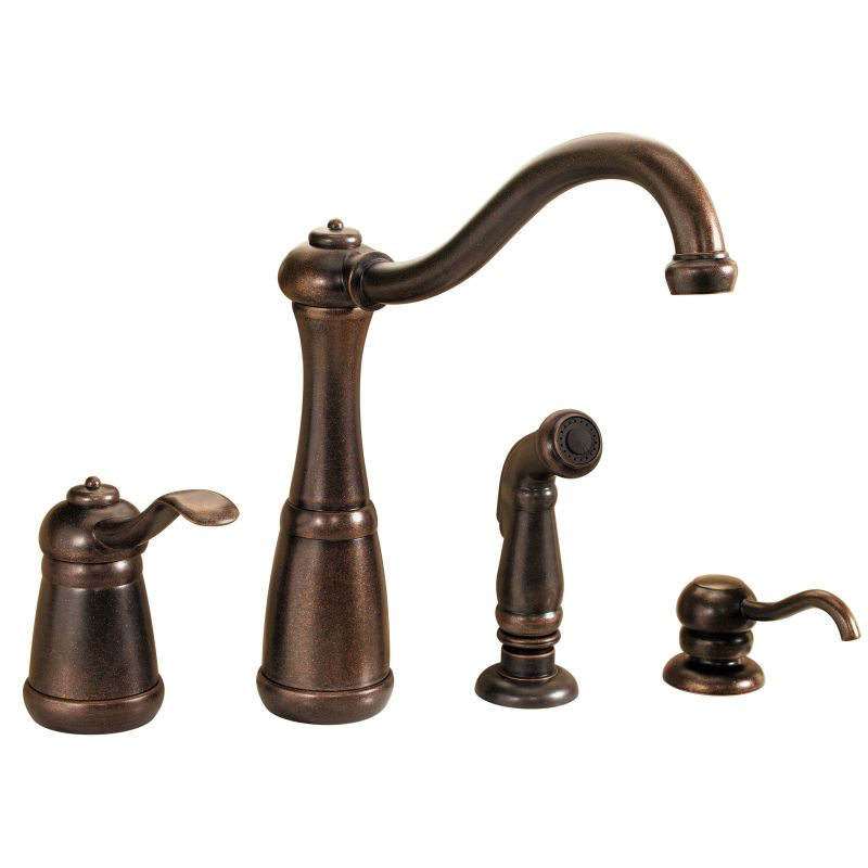 pfister gt26 4nuu rustic bronze marielle high arc kitchen faucet with