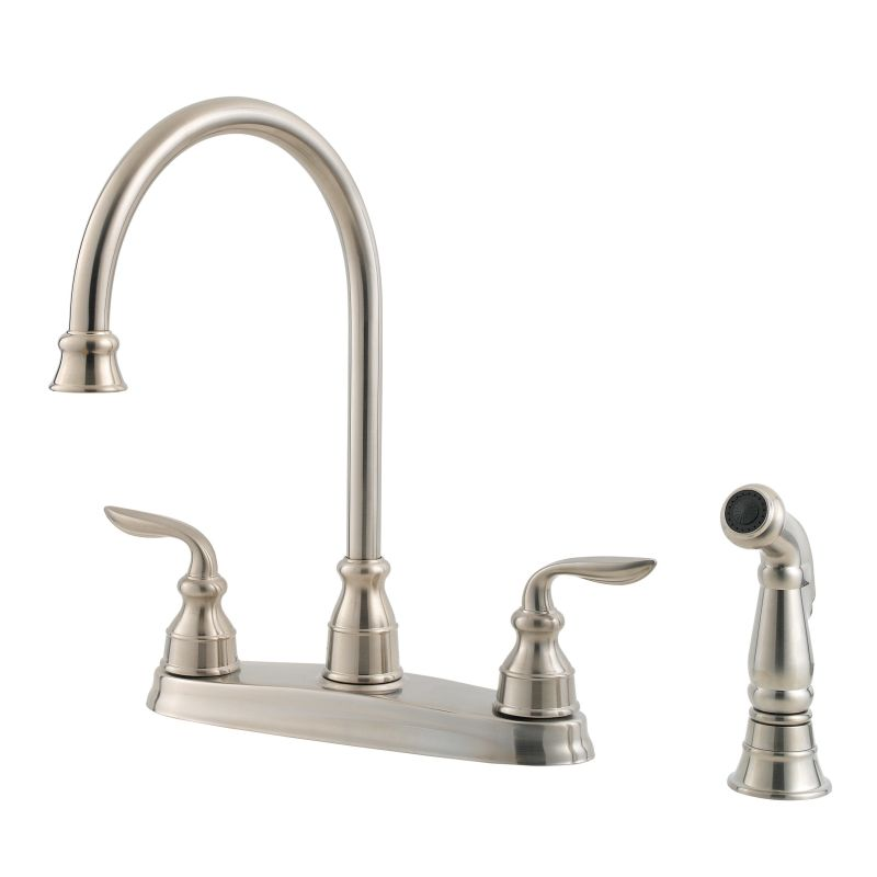 Pfister GT36-4CBS Stainless Steel Avalon High Arc Kitchen Faucet with ...