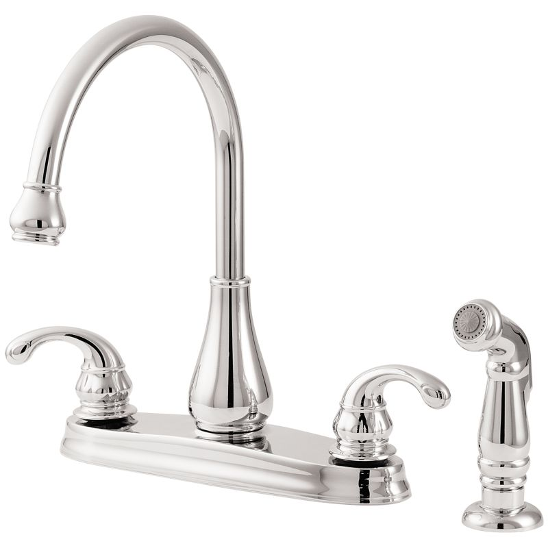 Pfister GT36-4DCC Polished Chrome Treviso High Arc Kitchen Faucet ...