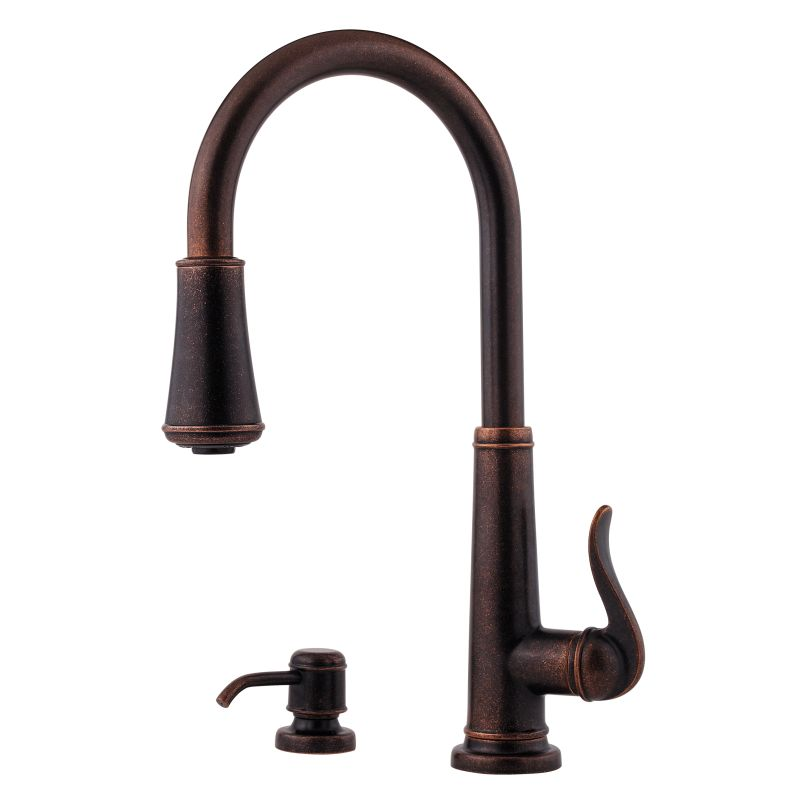 Bronze Ashfield 2 Function Pullout Spray High Arc Kitchen Faucet ...