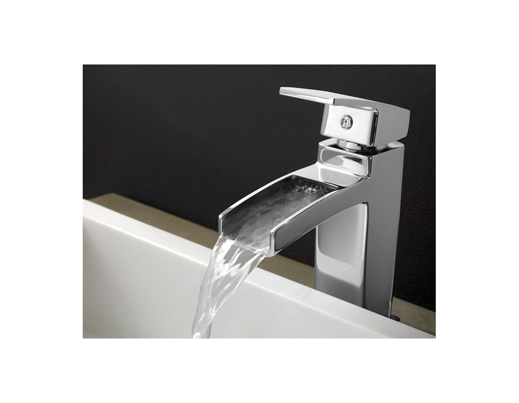 Pfister T42-DF0K Brushed Nickel Kenzo Bathroom Sink Waterfall Faucet