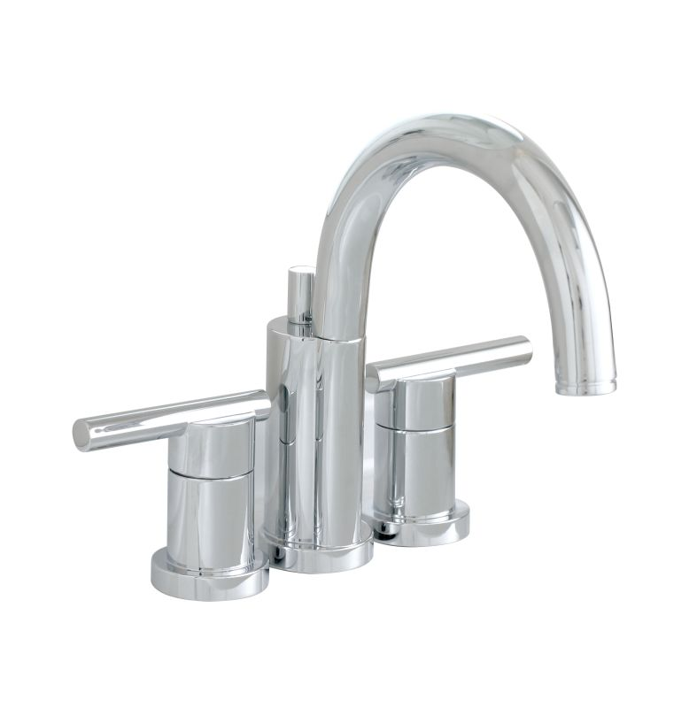 Widespread Bathroom Faucet Clearance : ... Chrome Essen Mini Widespread Bathroom Faucet with Brass Pop Up Drain