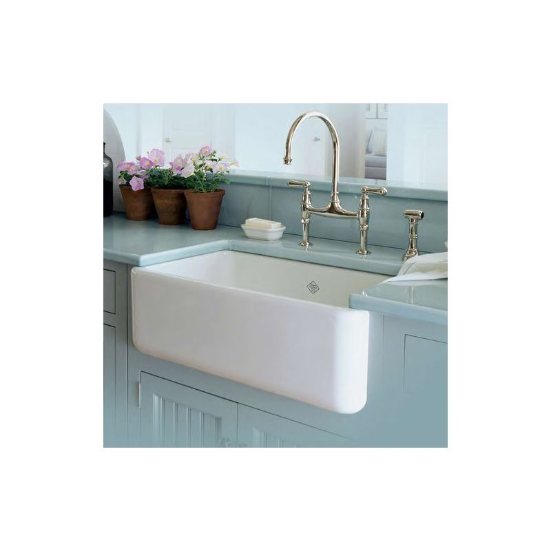 Rohl Farmhouse Sink : Rohl RC3018WH White Shaws 30
