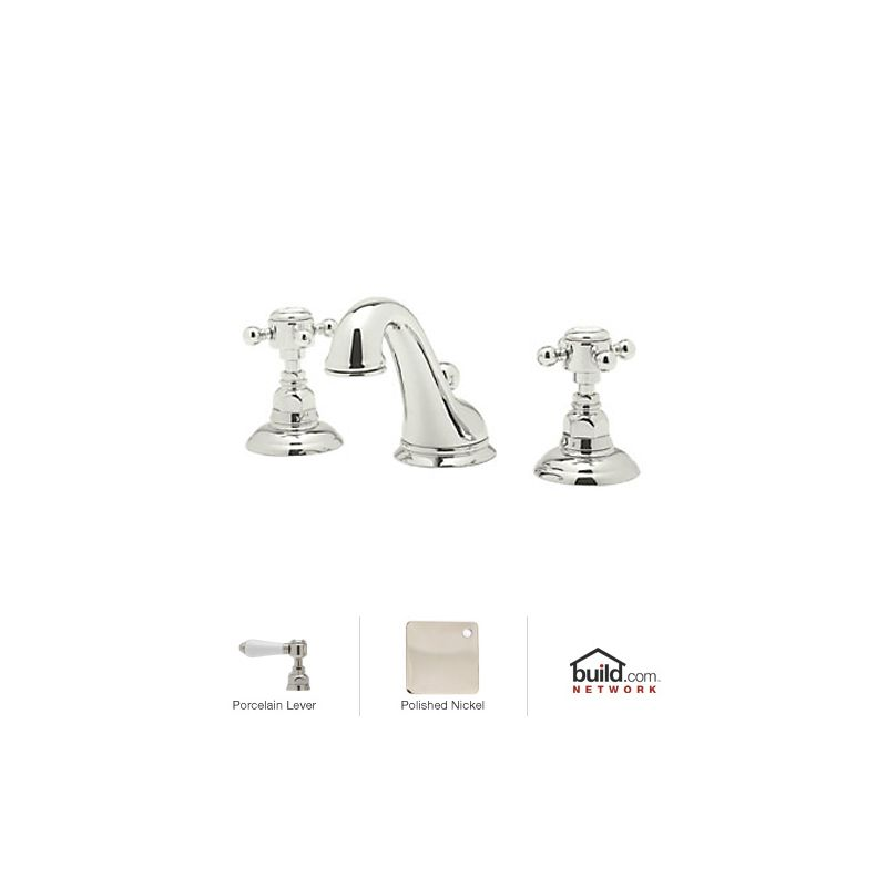 Rohl Bathroom Faucets : Rohl A1408LMPN-2 Polished Nickel Country Bath Widespread Bathroom ...