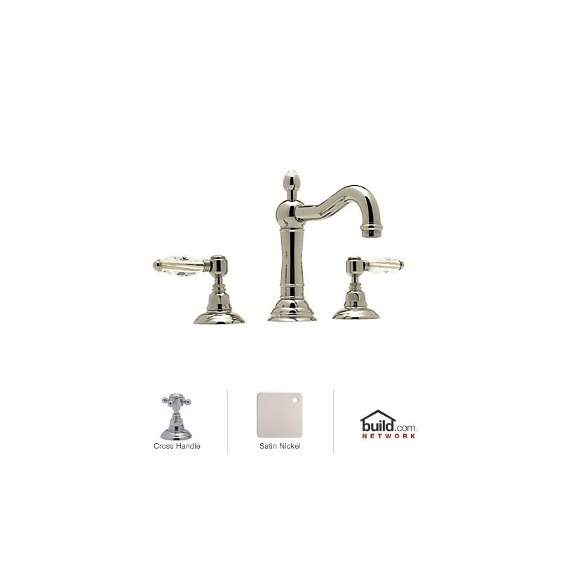 Rohl Bathroom Faucets : Rohl A1409XMSTN-2 Satin Nickel Country Bath Widespread Bathroom Faucet ...