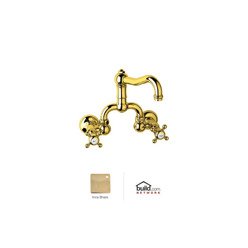 inca brass country bath wall mounted bathroom faucet with pop up drain