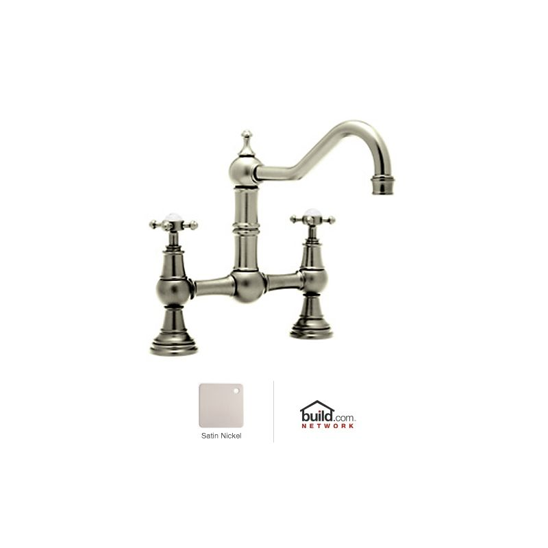 Rohl Bathroom Faucets : Rohl U.4750X-STN-2 Satin Nickel Perrin and Rowe Bridge Kitchen Faucet ...