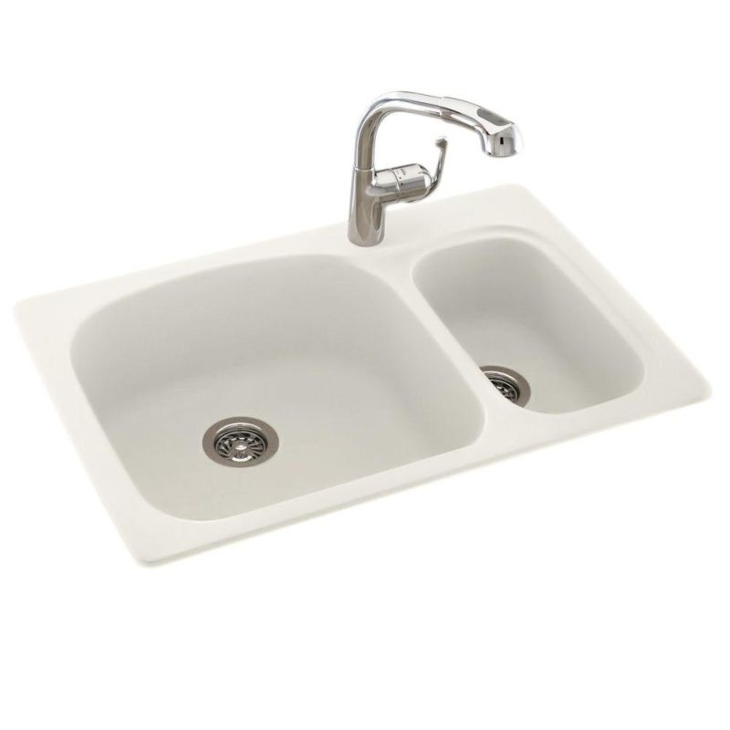faucet com ks03322ls 018 in bisque by swanstone