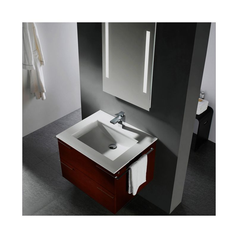 Lastest In African Walnut With Engineered Wood Vanity Top In White And Mirror