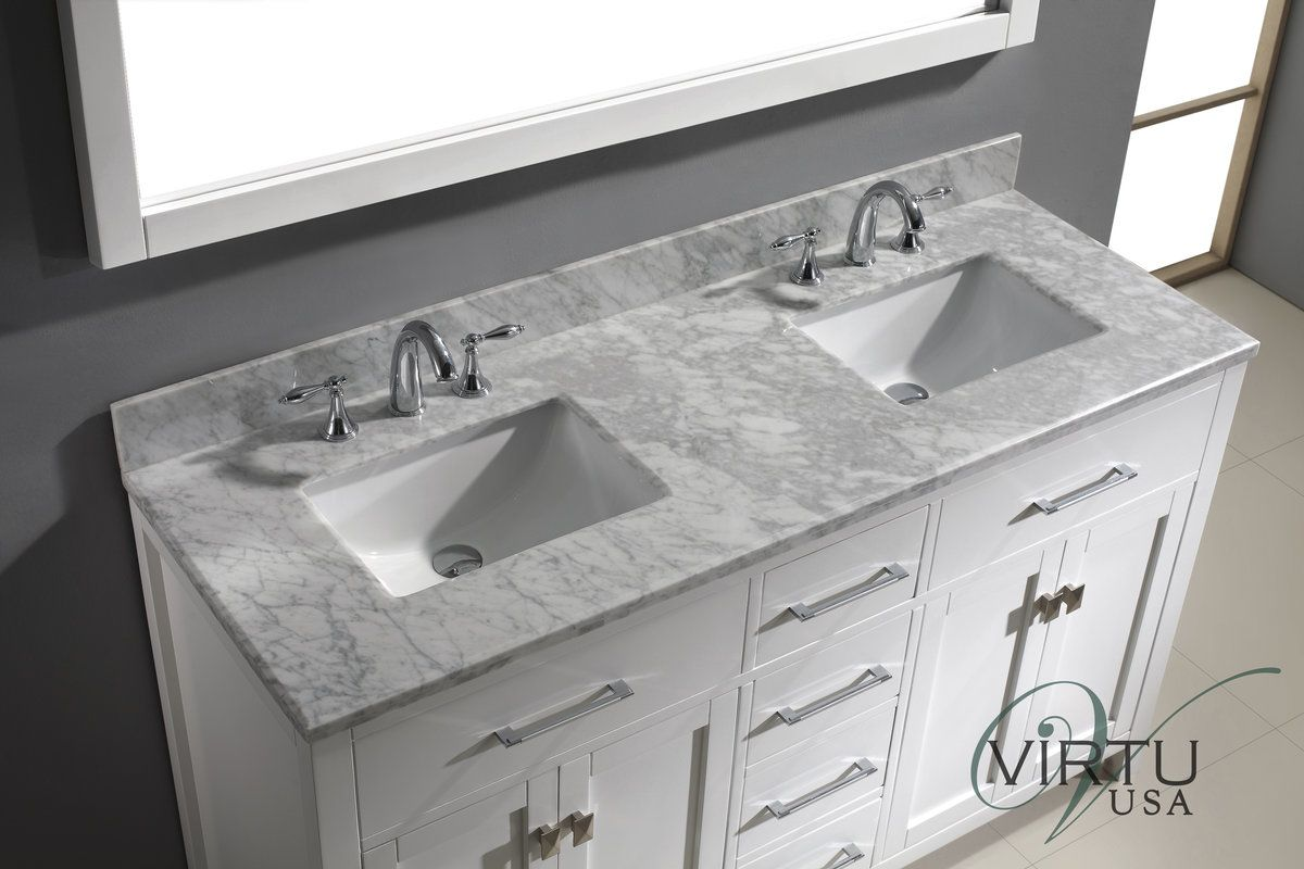 M60 ctsq wm aa in white by virtu usa Used bathroom vanity with sink