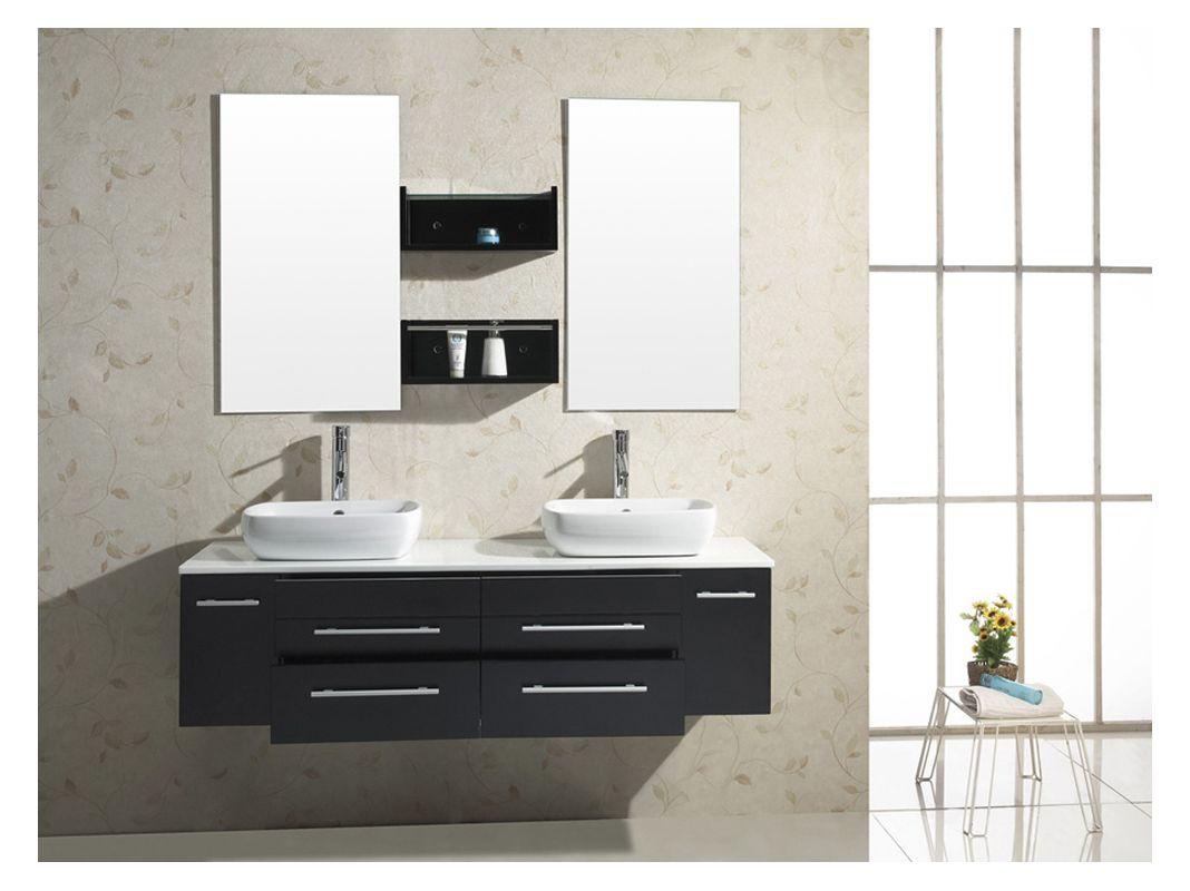 Virtu Usa Um  Espresso Augustine  Bathroom Vanity Cabinet