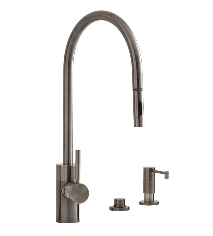 faucet 5300 3 ap in antique pewter by waterstone