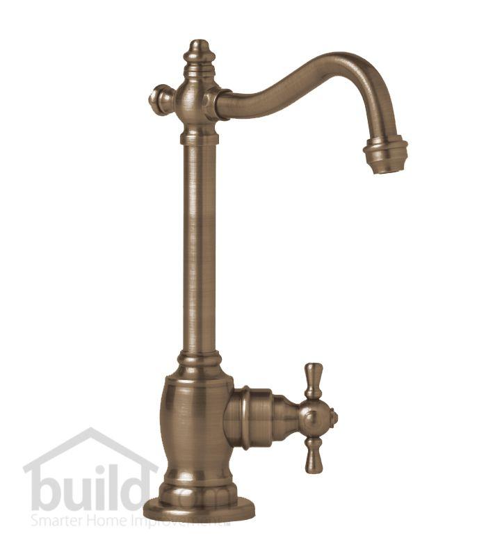 Antique Faucets : Waterstone 1150C-AB Antique Brass Annapolis Filtration Faucet Cold ...