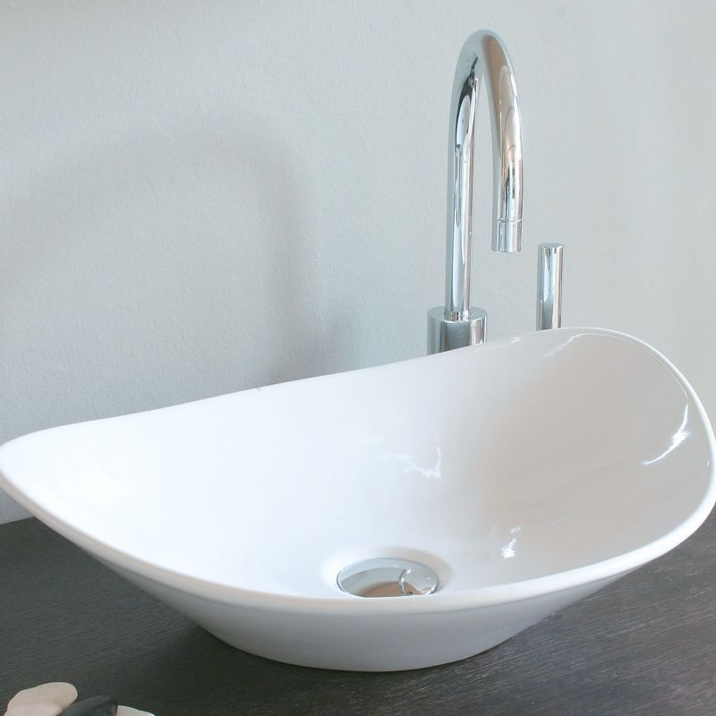 White Faucet Bathroom : WS Bath Collections LVA 120 White 20-9/10