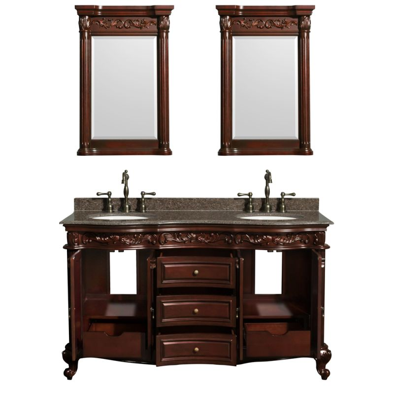 Cherry 58 1 2 quot mdf vanity cabinet only from the edinburgh collection
