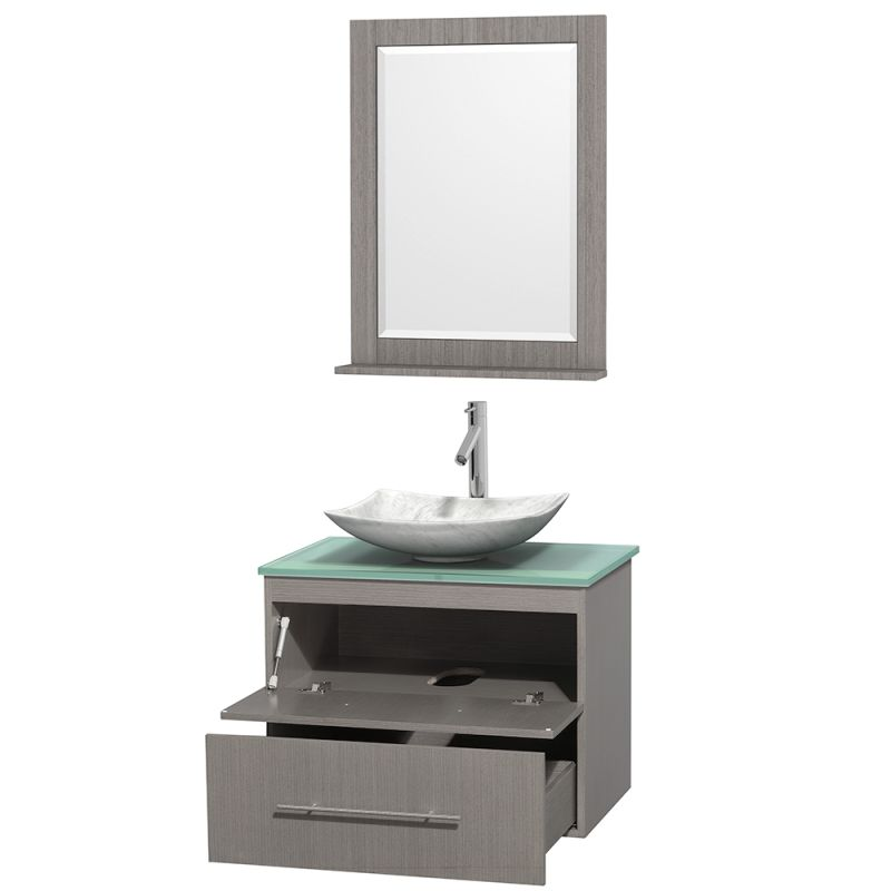 ... WCVW00930SGOGGGS2M24 in Avalon Ivory Marble Sink by Wyndham Collection