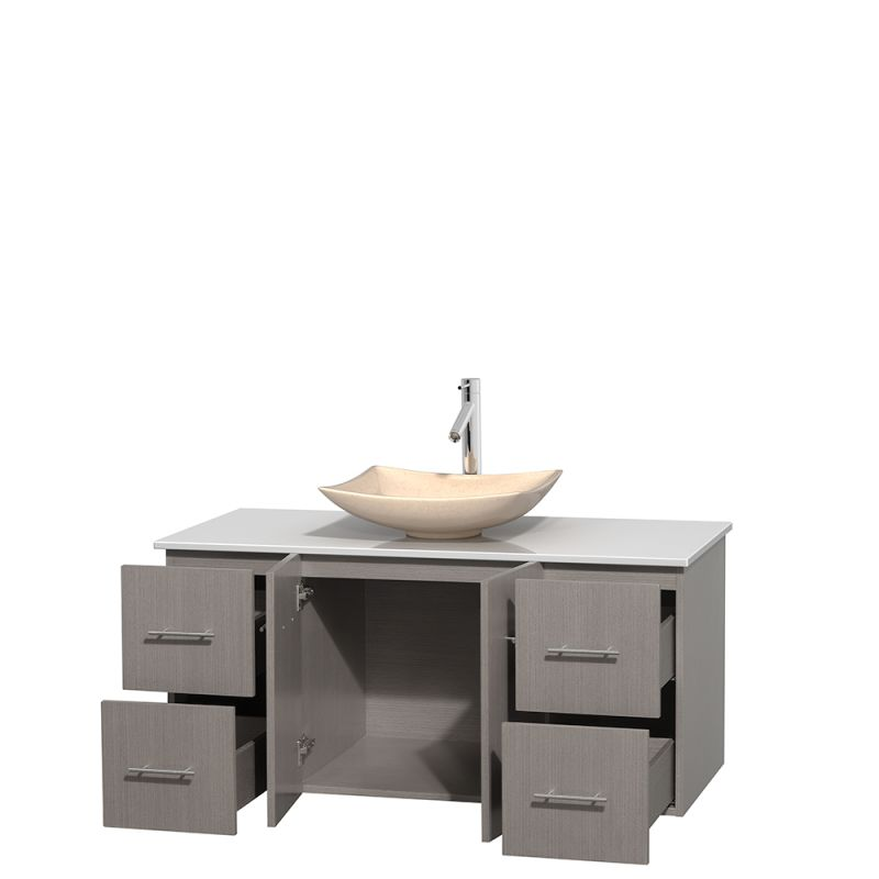 Collection WCVW00948SGOWSGS3M36 Avalon White Carrera Marble Sink ...
