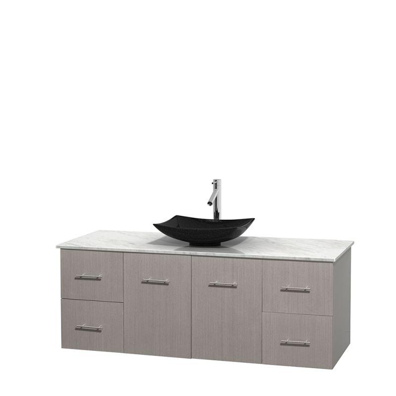 Best Vessel Sink Faucet : Faucet.com WCVW00960SGOCMGS1M58 in Altair Black Granite Sink by ...