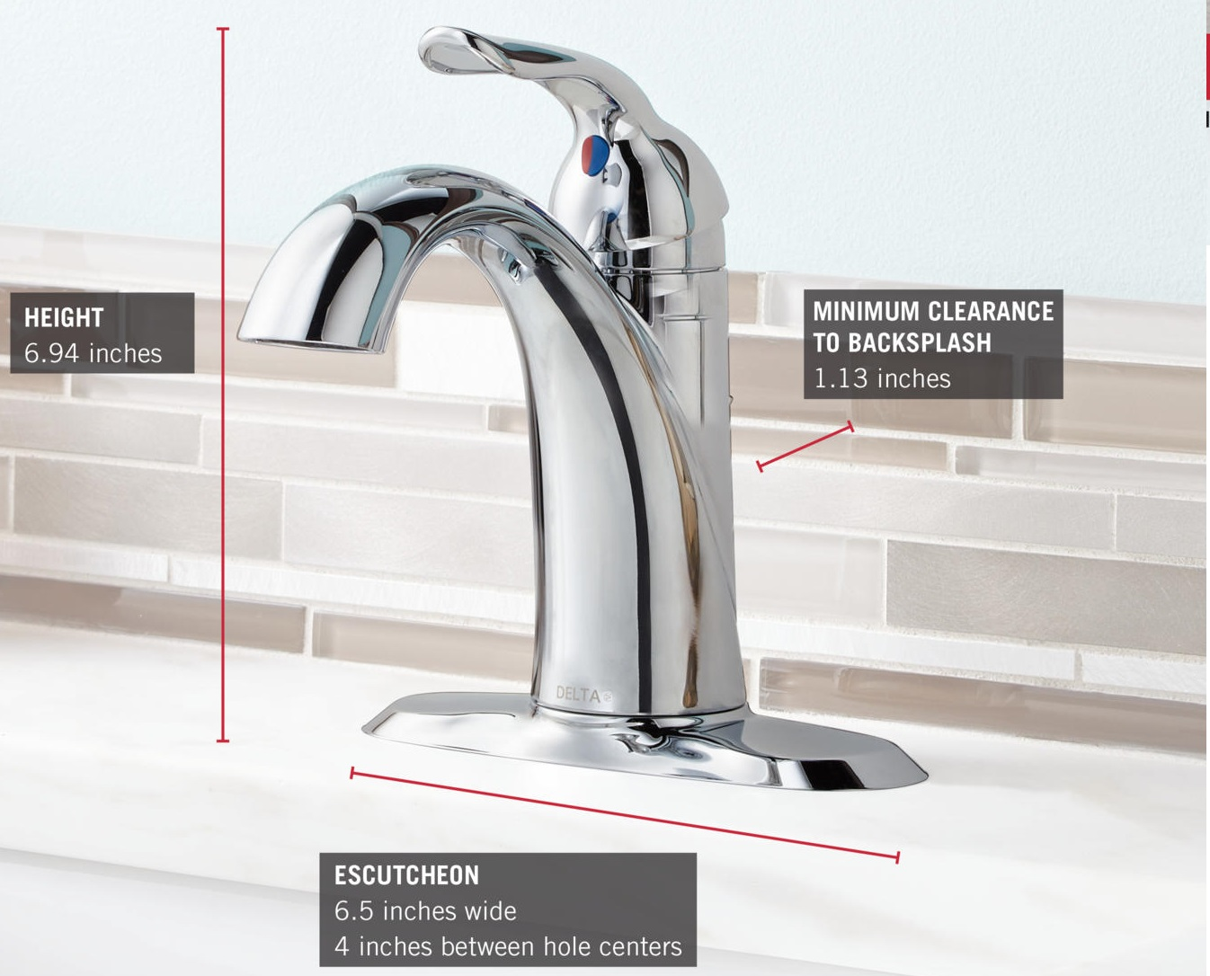 Delta Lahara Roman Tub Faucet Hand Shower With Sure Cold Wat