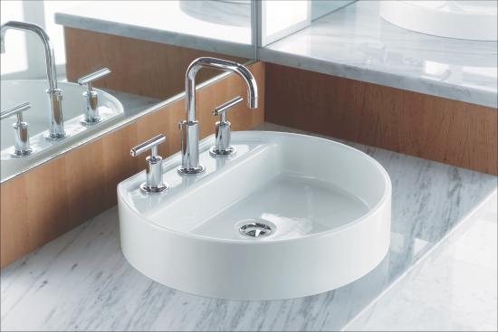 Kohler Elmbrook 8 In Widespread 2 Handle Bathroom Faucet: K-14406-4-BGD In Vibrant Moderne Brushed Gold