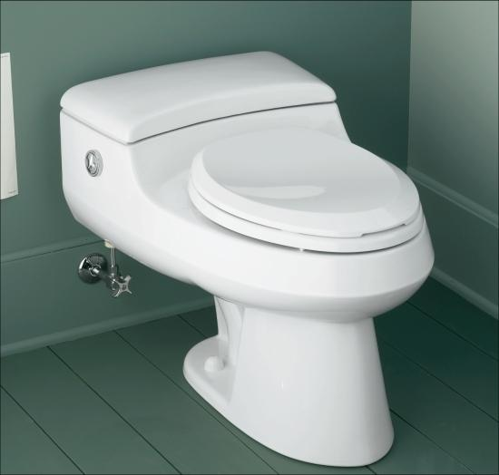 Kohler K-3466-47 Almond San Raphael One-Piece Elongated Toilet with ...
