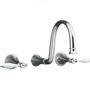 K-T343-4P Kohler Finial Wall Mount Bathroom Faucet