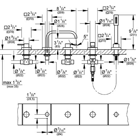 Nameeks S34642 Carlo Frattini Bio Wall Mounted Tub Shower Mixer With Rainhead Hand Shower Set Product 71874 additionally Bath Shower And Tub Faucets in addition Detail moreover Kohler Shower Diverter Diagram additionally Moe25510srn. on shower tub diverter hose